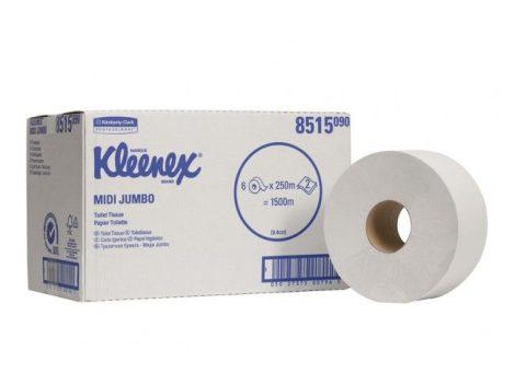 Kimberly Clark Kleenex jumbo toalettpapír 2r.fehér 250m átm.23cm 6tekercs/karton KC-8515