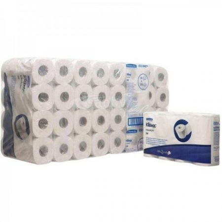 KC Kleenex kistekercses toalettpapír fehér, 2 rétegű, 350 lap/tekercs KC-8442