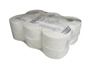 Kimberly Clark toalettpapír mini jumbo 200m 525lap 2r.fehér átm.19cm 12 tekercs/karton KC-8024